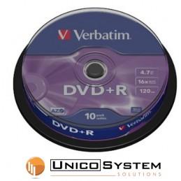 DVD+R 4.7 GB 16x Verbatim 10pz
