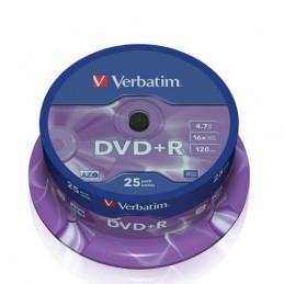 DVD+R 4.7 GB 16x Verbatim 25pz