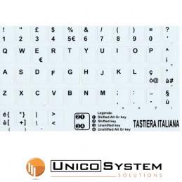 Sticker Tastiera White...